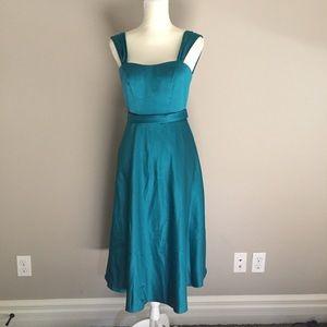 David's Bridal Dress Teal Blue Prom Bridesmaid